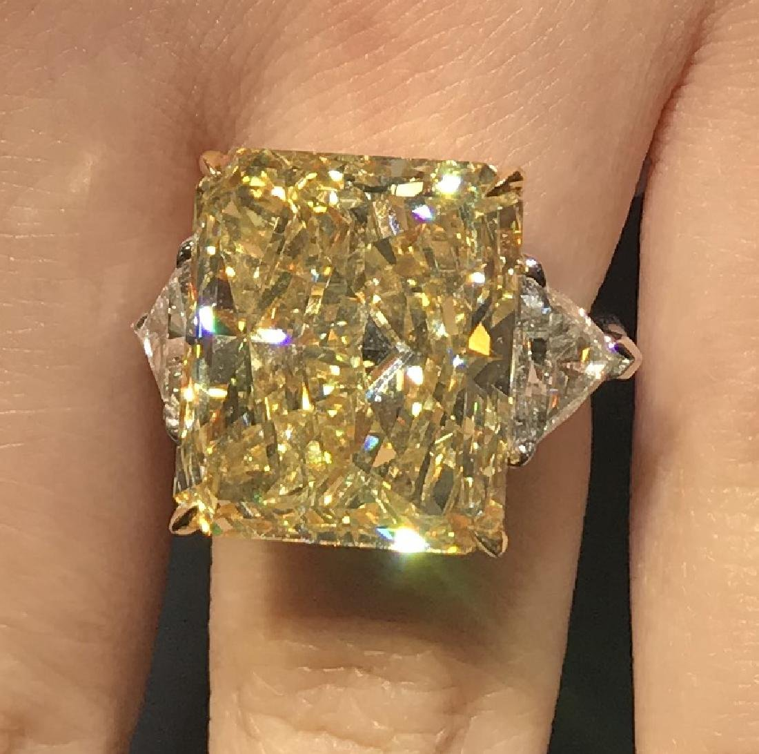 A Yellow Color Diamond Ring - 8