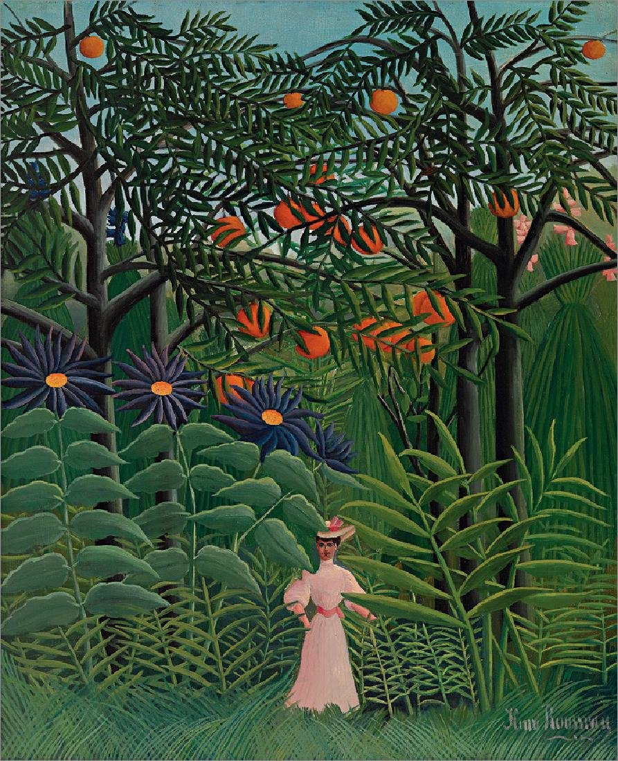 Oil Painting on Canvas, Henry Rousseau