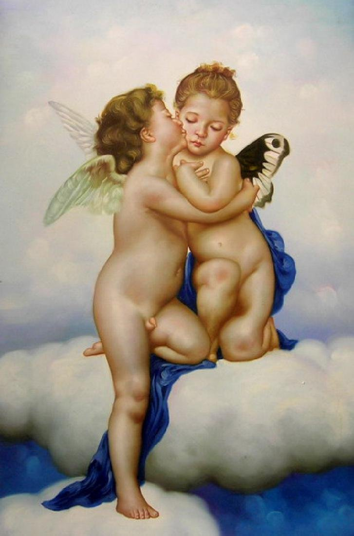 Oil Painting on Canvas, Angel