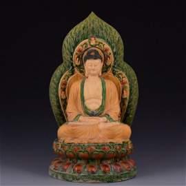 Chinese Tang San Cai Buddha