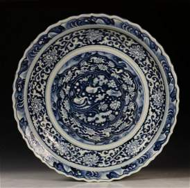 CHINESE BLUE AND WHITE  CHARGE