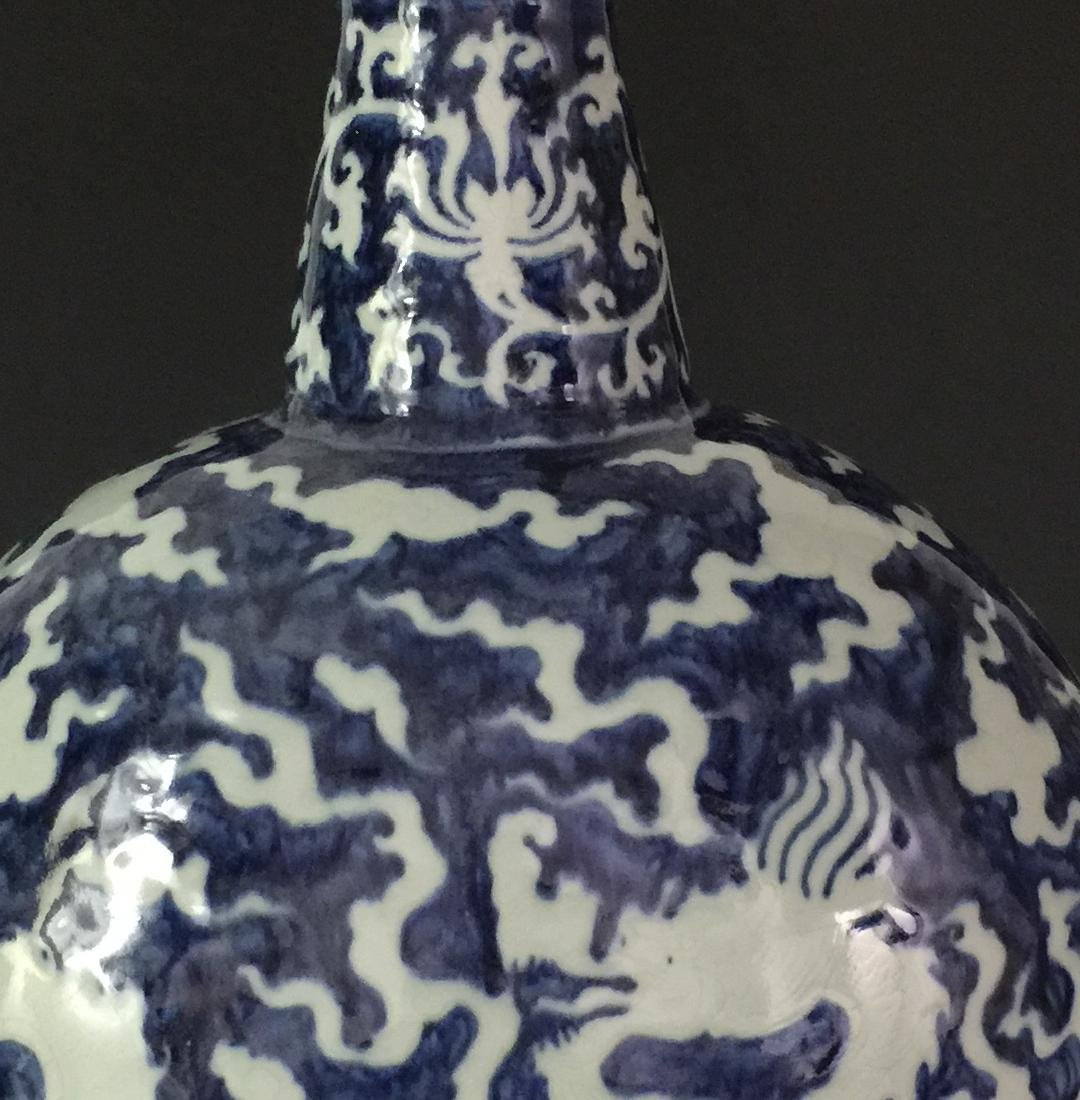 CHINESE BLUE AND WHITE MOON FLASKS - 4