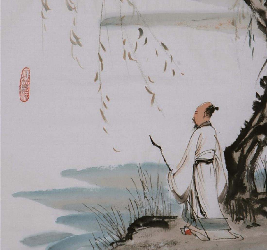 CHINESE PAINTING OF FIGURE, SIGNED ZHANG DA QIAN - 2