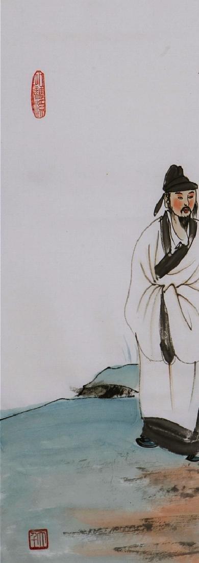 CHINESE PAINTING OF FIGURE, SIGNED ZHANG DA QIAN - 3