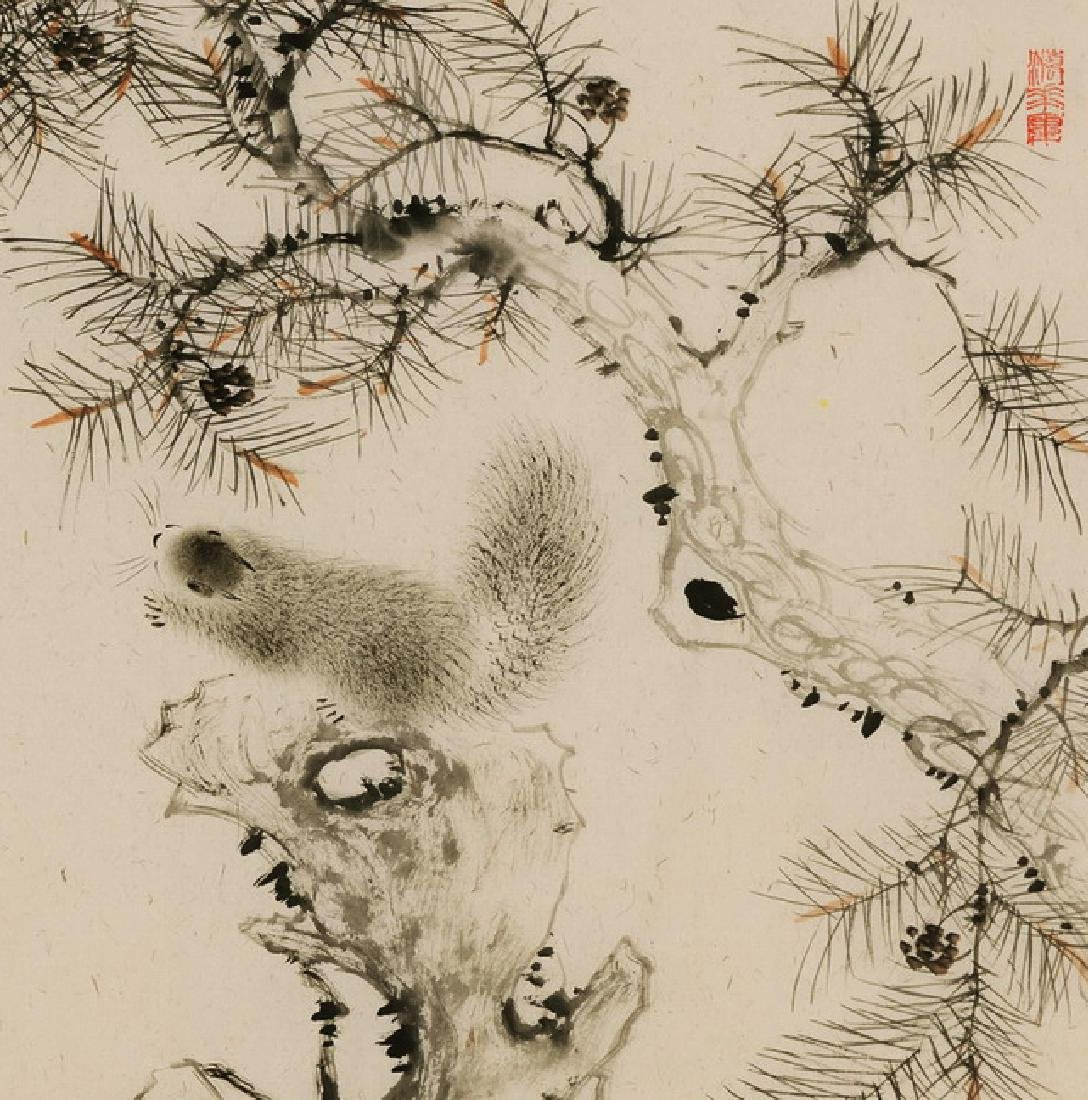 CHINESE PAINTING OF FIGURE, SIGNED HUAN ZHOU - 3