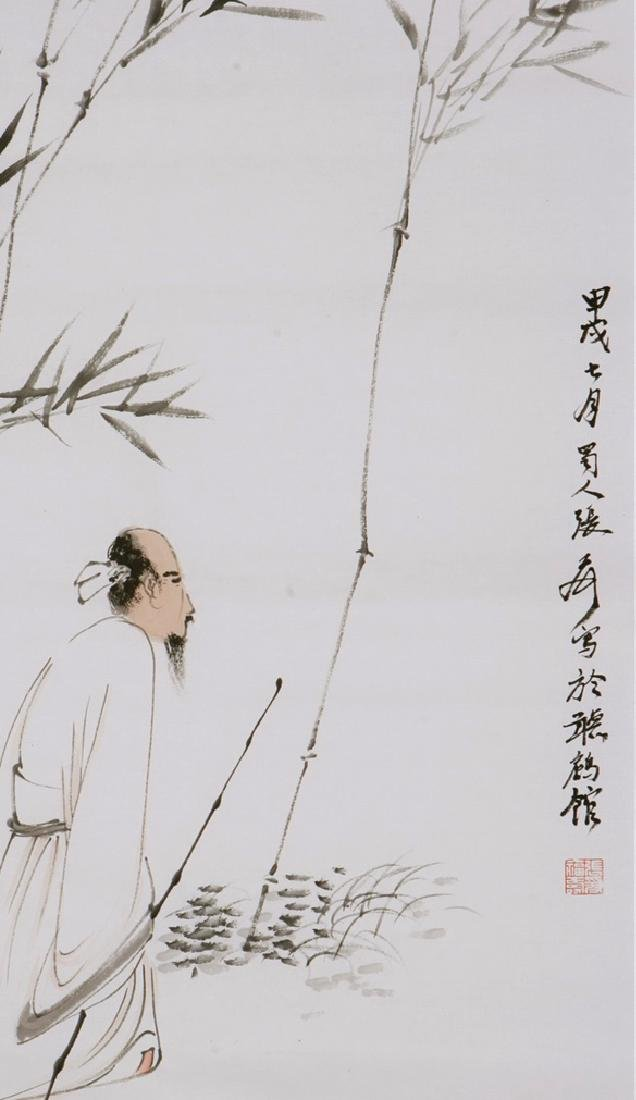 CHINESE PAINTING OF FIGURE AND LANDSCAPE, SIGNED ZHANG - 2