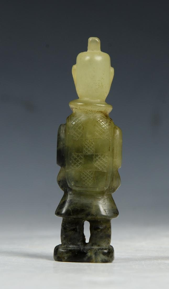 CHINESE ARCHAIC JADE FIGURE - 2