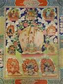 GREAT WHITE UMBRELLA MOTHER-BUDDHA THANGKA
