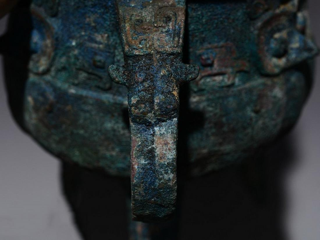 CHINESE JIA BRONZE VESSEL - 10