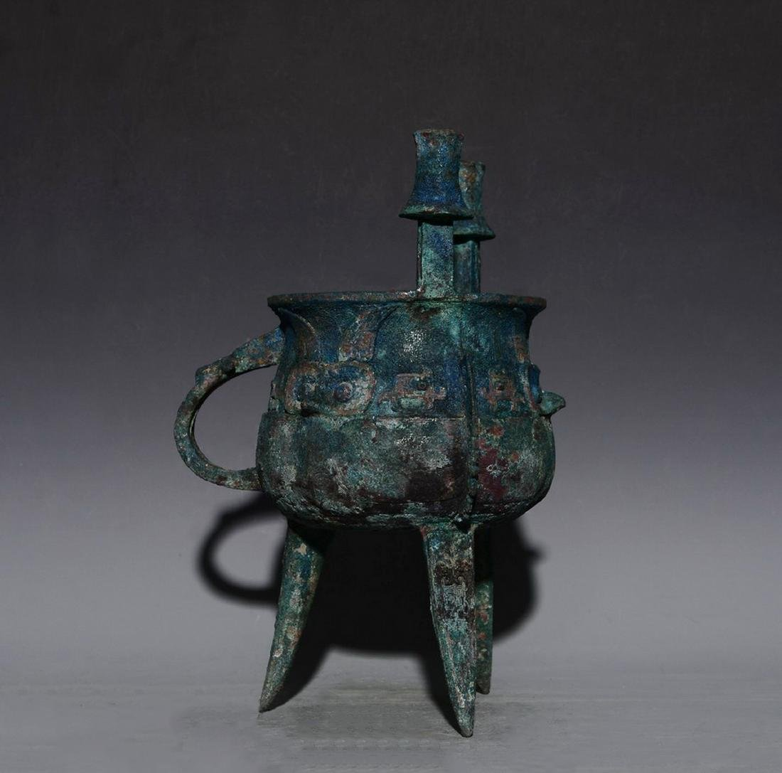 CHINESE JIA BRONZE VESSEL