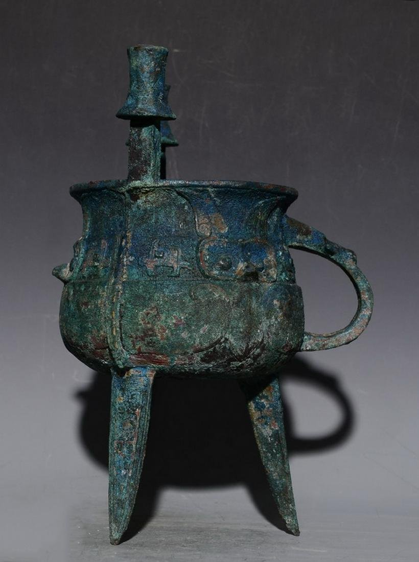 CHINESE JIA BRONZE VESSEL - 3