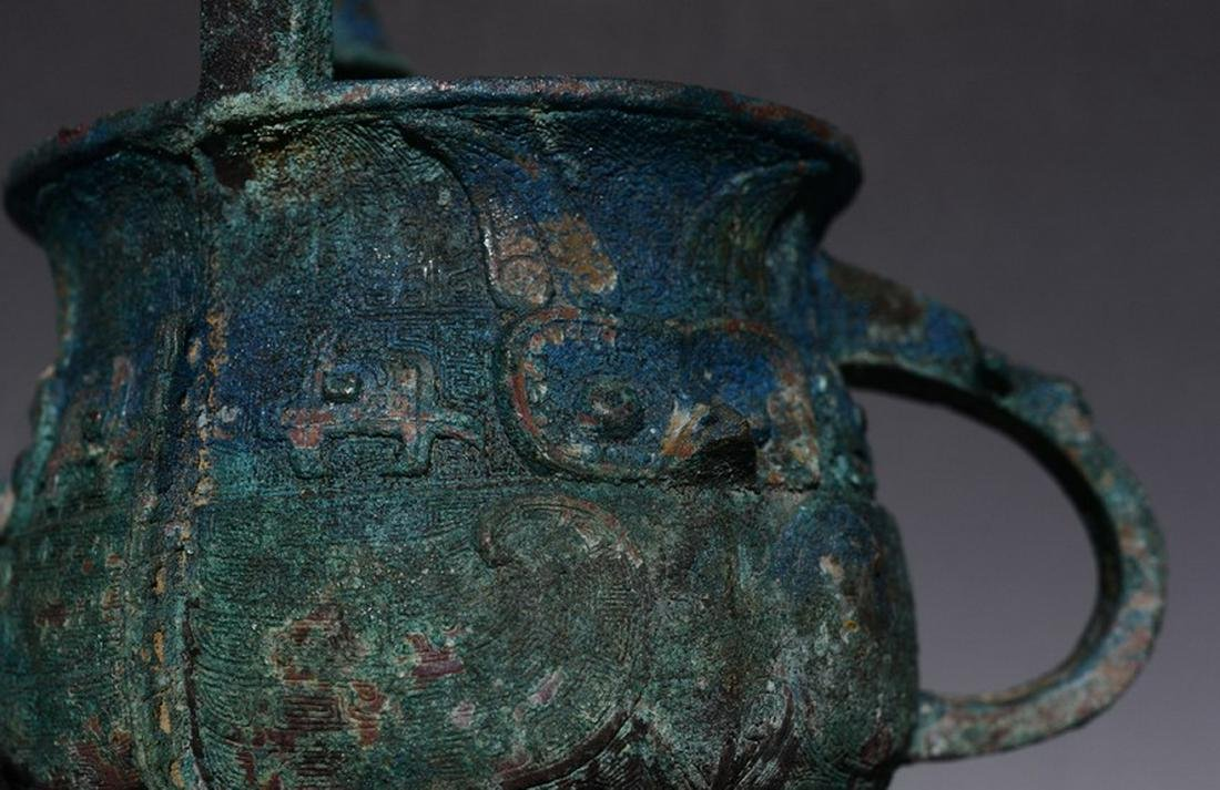 CHINESE JIA BRONZE VESSEL - 6