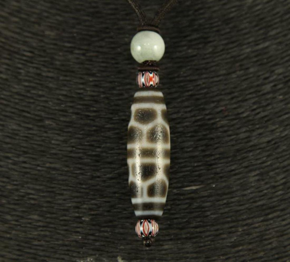CHINESE FINE DZI BEADS NECKLACE - 2