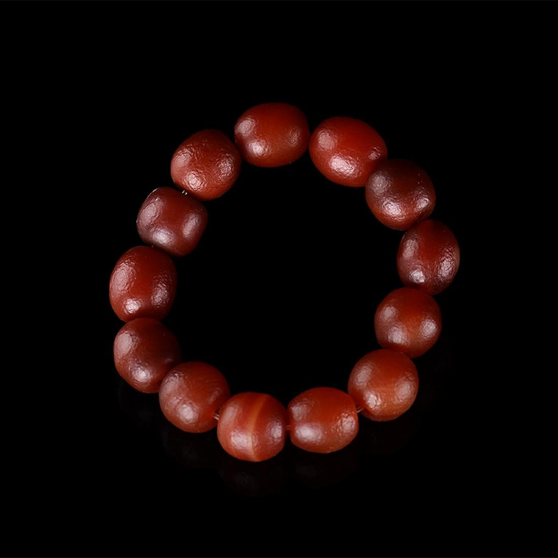 CHINESE CHERRY RED AGATE BRACELET