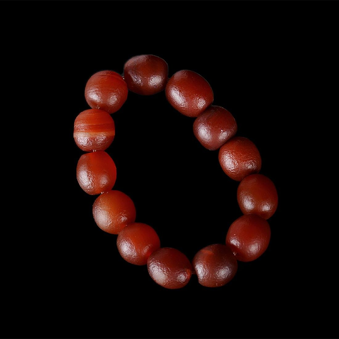 CHINESE CHERRY RED AGATE BRACELET - 3