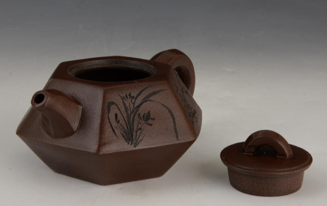 CHINESE ZI SHA TEA POT - 3