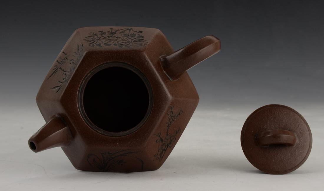 CHINESE ZI SHA TEA POT - 4