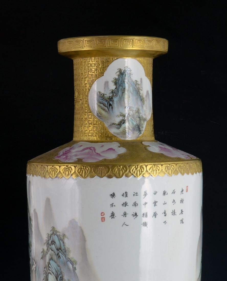 CHINESE GILTED FAMILLE ROSE VASE - 5