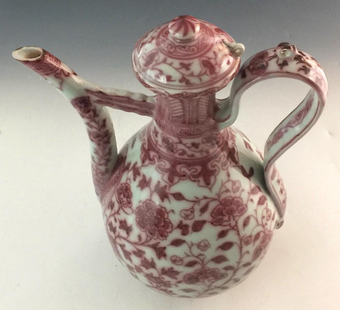 CHINESE COPPER RED POT - 6