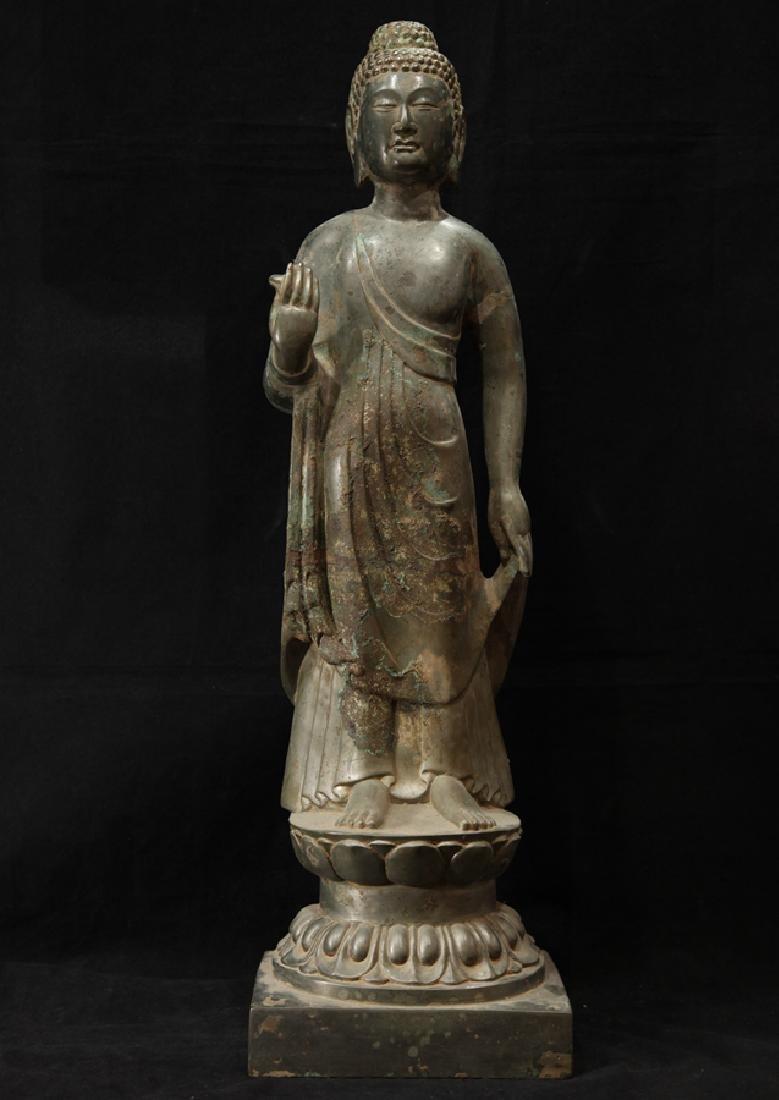 NORTHERN WEI TIBETAN OLD BRONZE BUDDHA