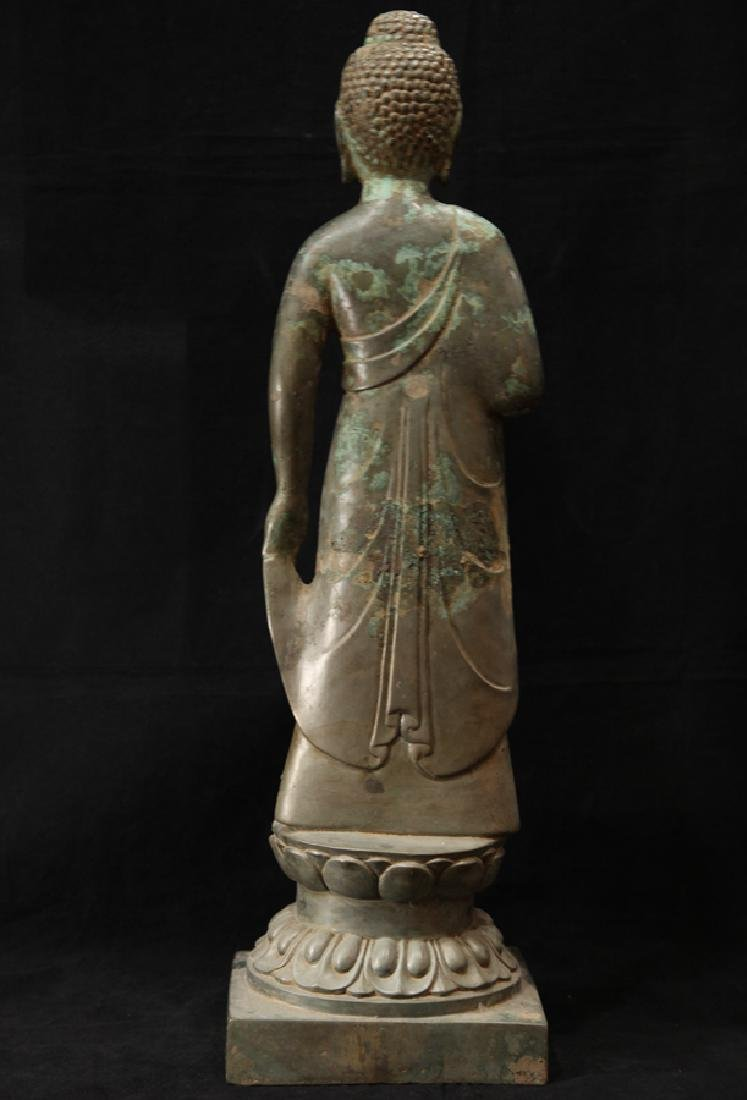 NORTHERN WEI TIBETAN OLD BRONZE BUDDHA - 2