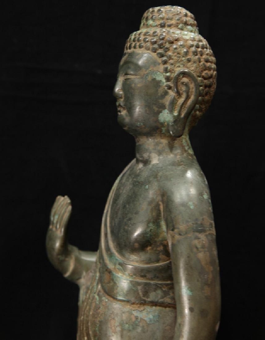 NORTHERN WEI TIBETAN OLD BRONZE BUDDHA - 5