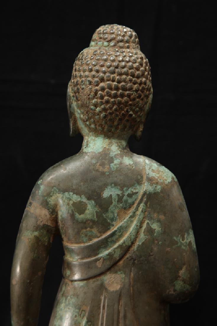 NORTHERN WEI TIBETAN OLD BRONZE BUDDHA - 7