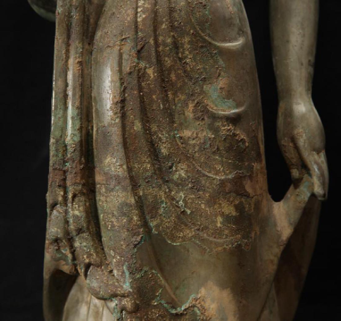 NORTHERN WEI TIBETAN OLD BRONZE BUDDHA - 8