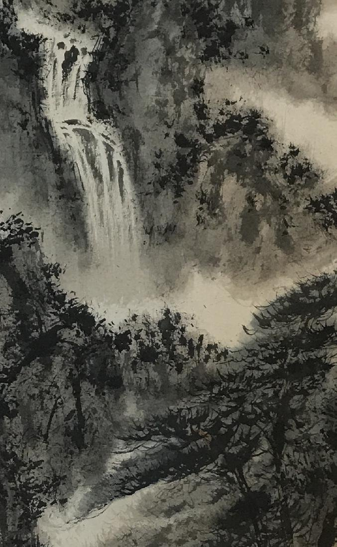 CHINESE PAINTING OF LADNDSCAPE, SIGNED FU BAO SHI - 5