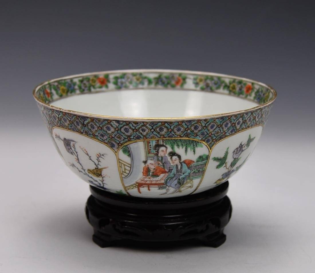 18TH CENTURY CHINESE FAMILLE ROSE  BOWL - 3