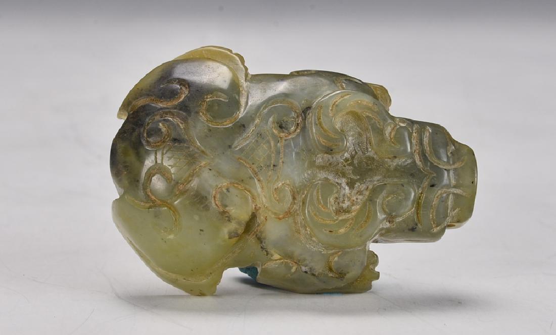 Carved Mottled Jade Animals - 5