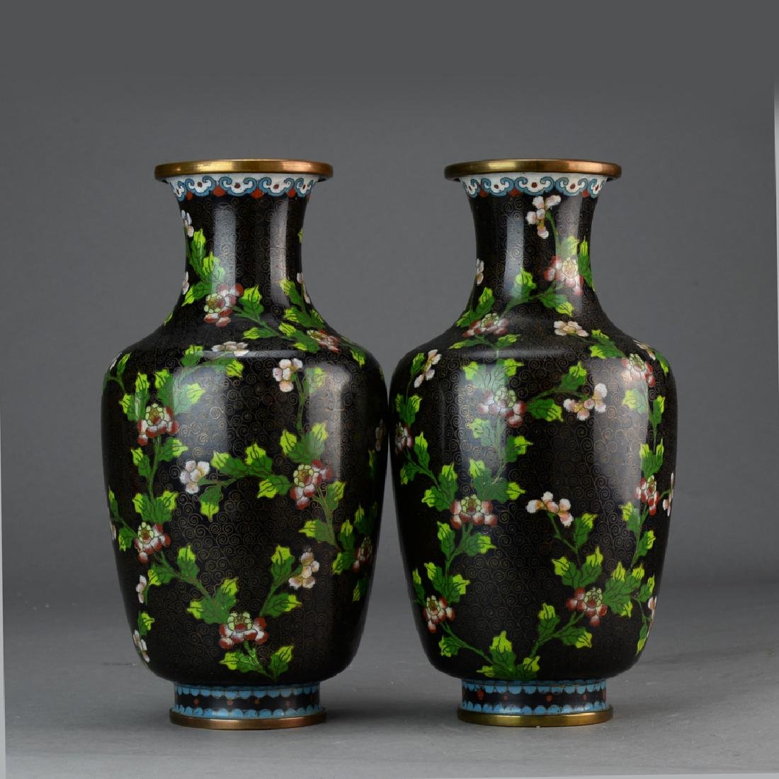A Pair of Chinese Cloisonne Vase - 7