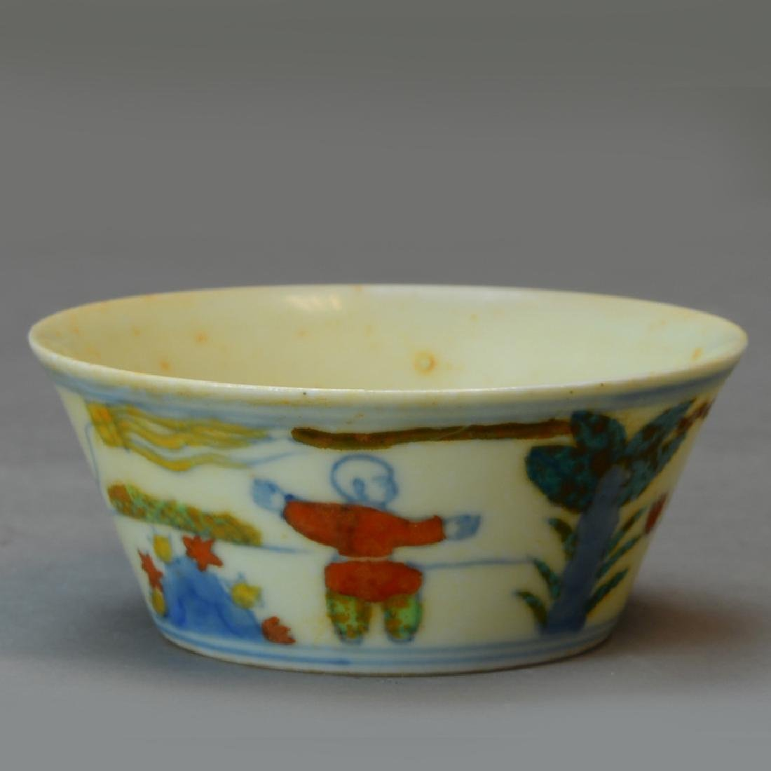 A Chinese Doucai Cup