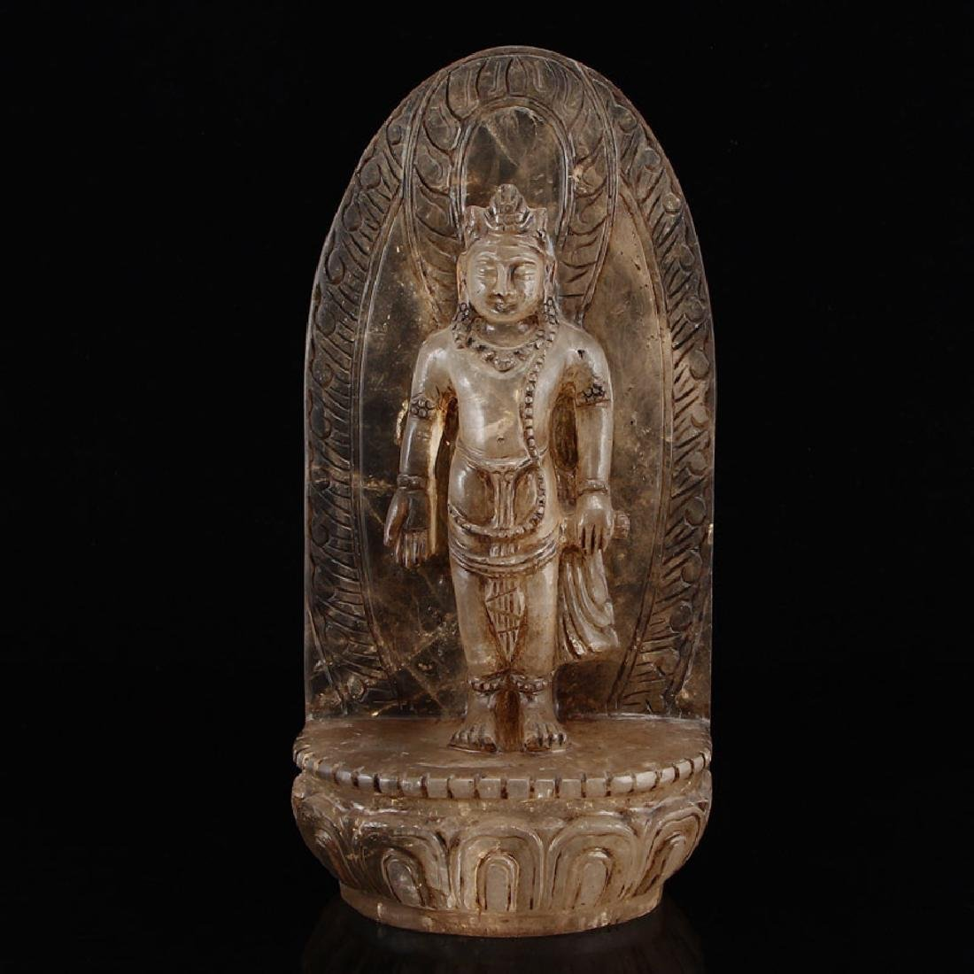 chinese carved crystal buddha