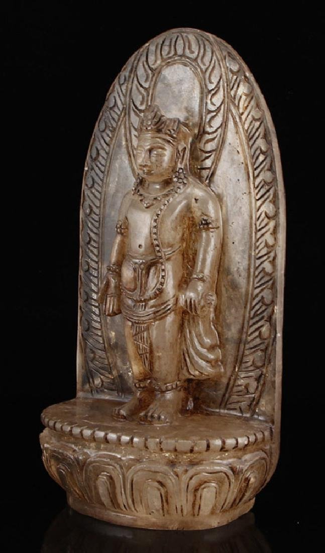 chinese carved crystal buddha - 4