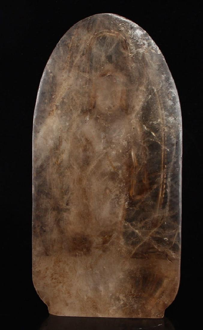 chinese carved crystal buddha - 5