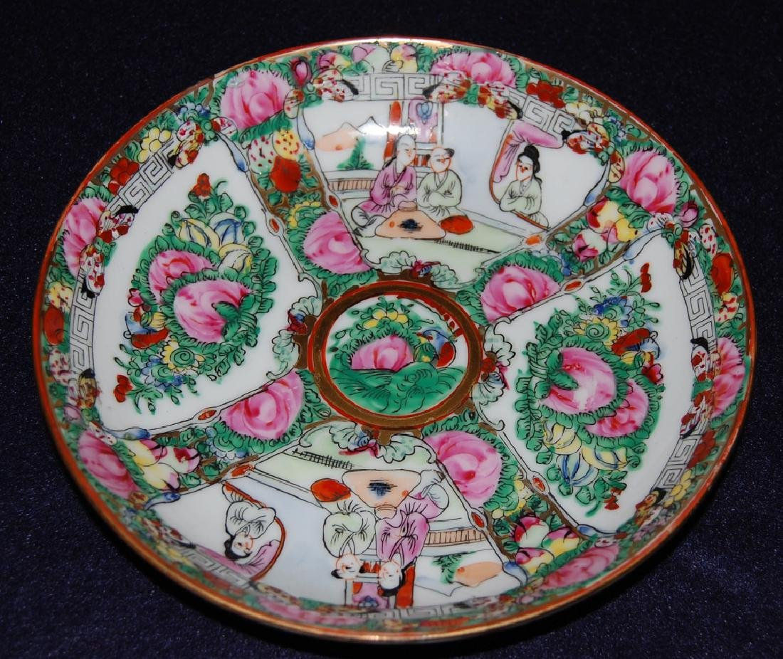 A Pair of Famille Rose Plate in Flower & Figure - 2