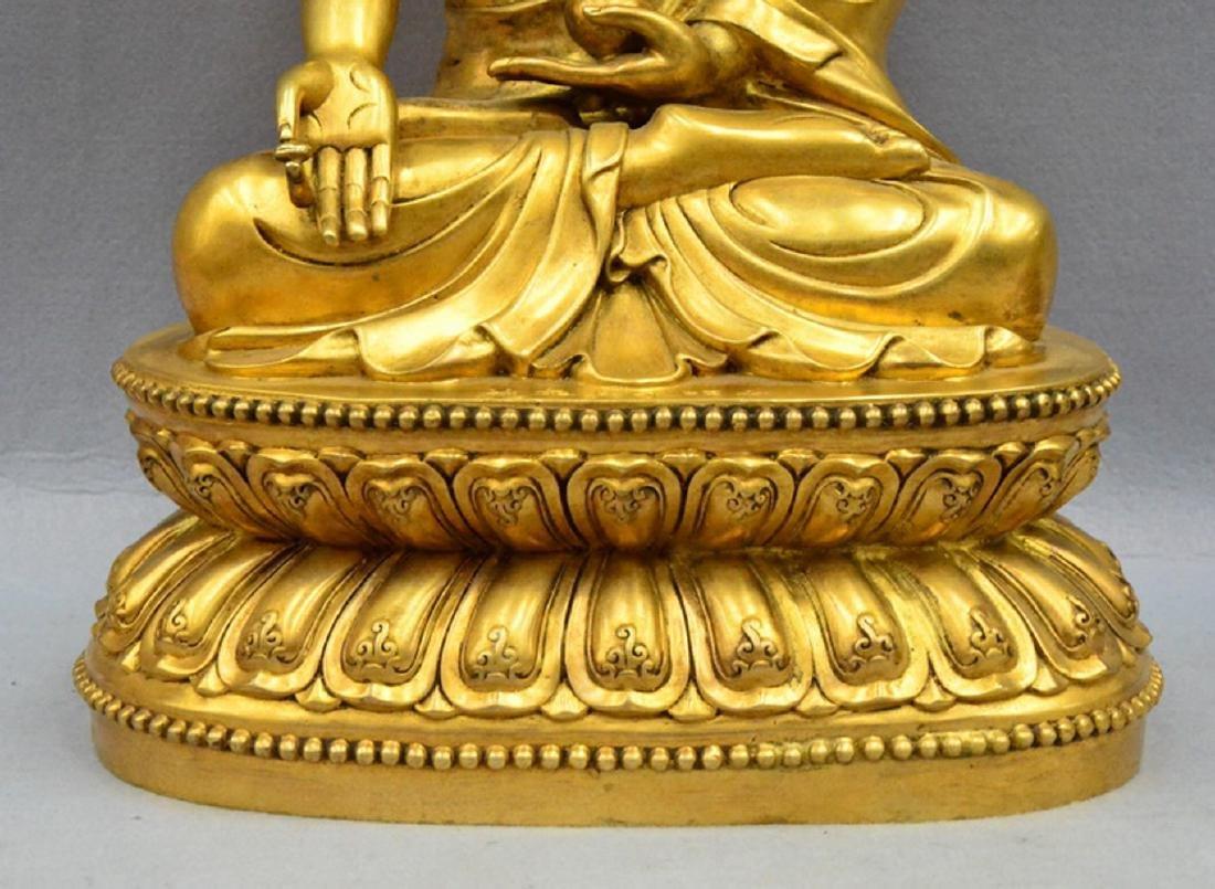 CHINESE GILT BRONZE BUDDHA - 4