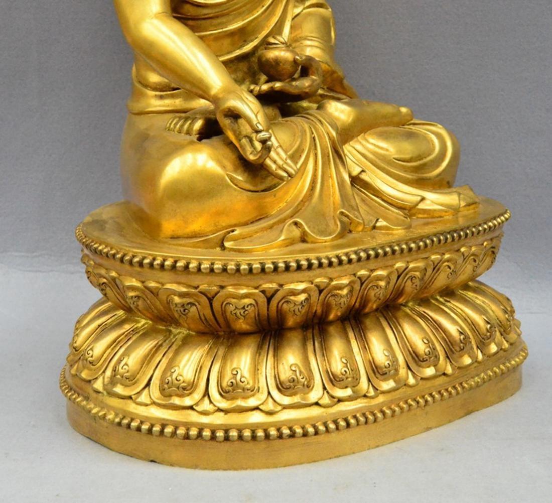 CHINESE GILT BRONZE BUDDHA - 8