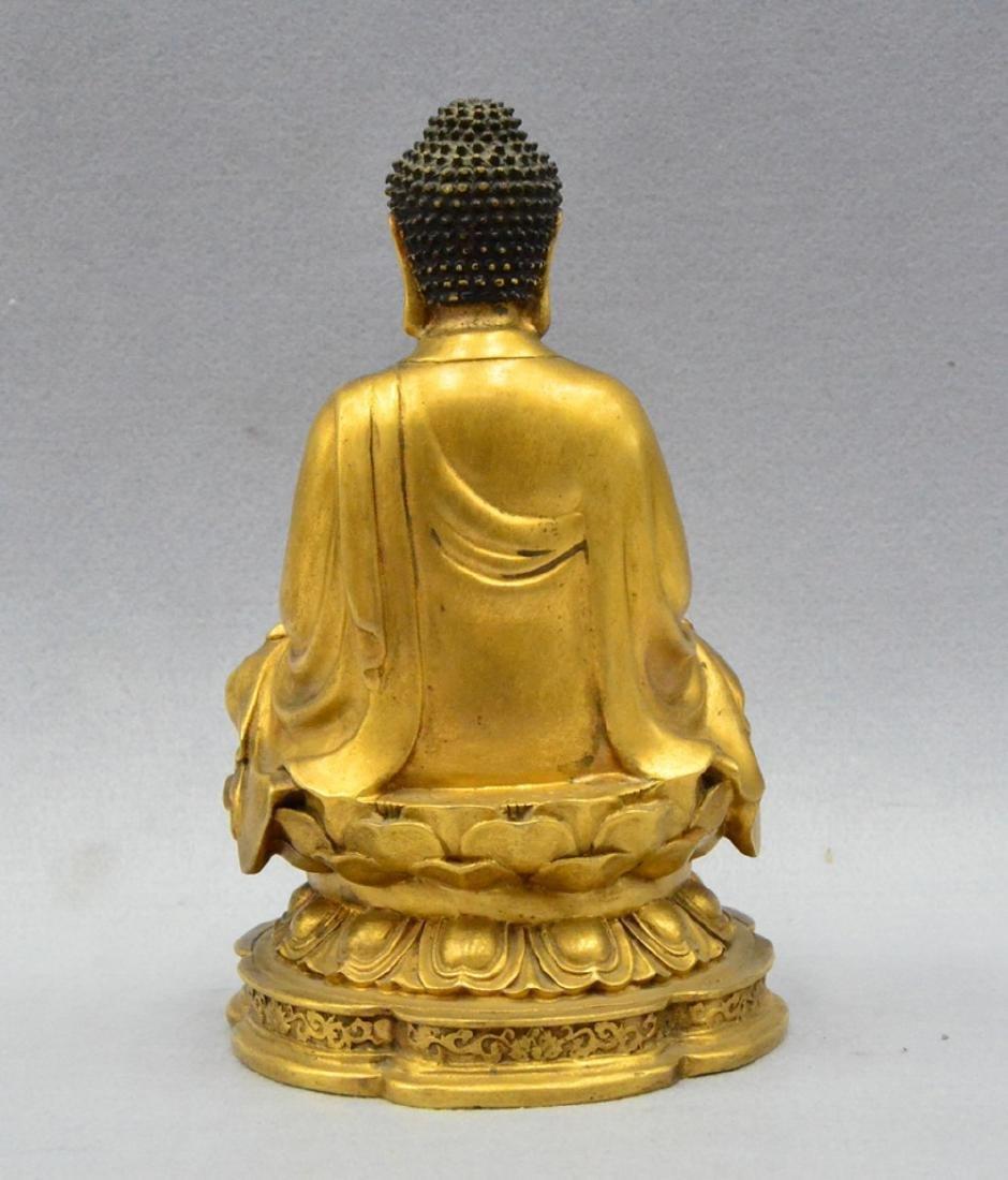 CHINESE GILT BRONZE BUDDHA - 7