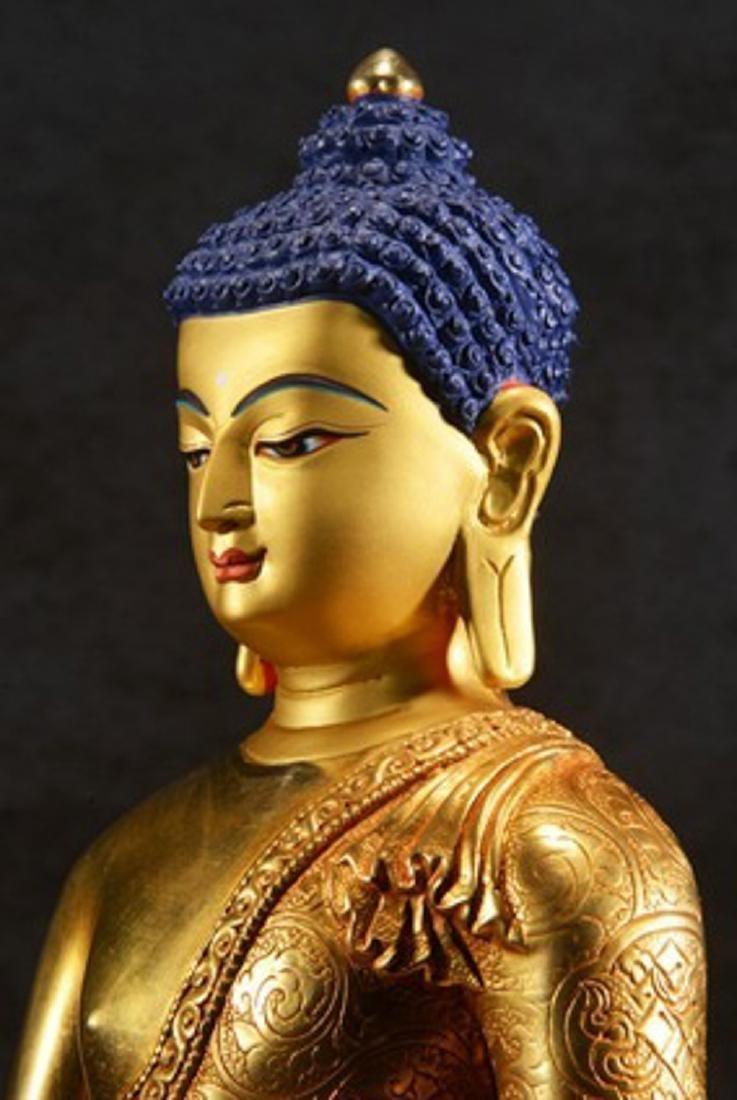 THE GILT BRONZE OF BUDDHA - 2