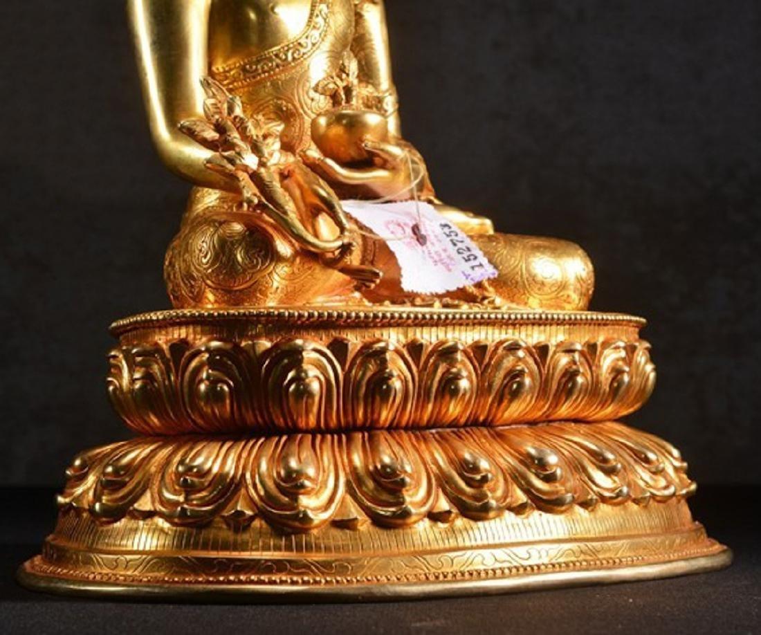 THE GILT BRONZE OF BUDDHA - 3