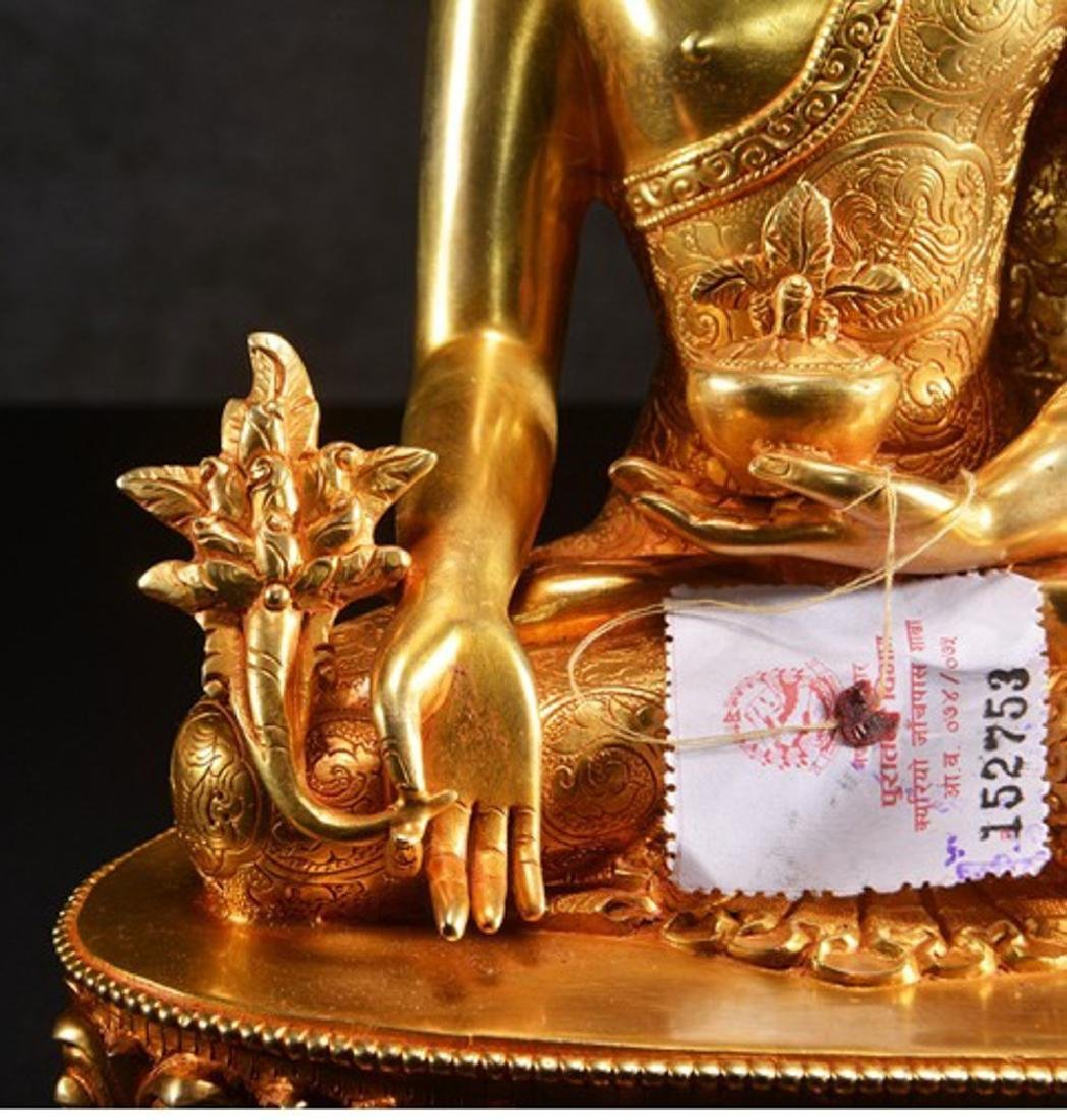 THE GILT BRONZE OF BUDDHA - 4