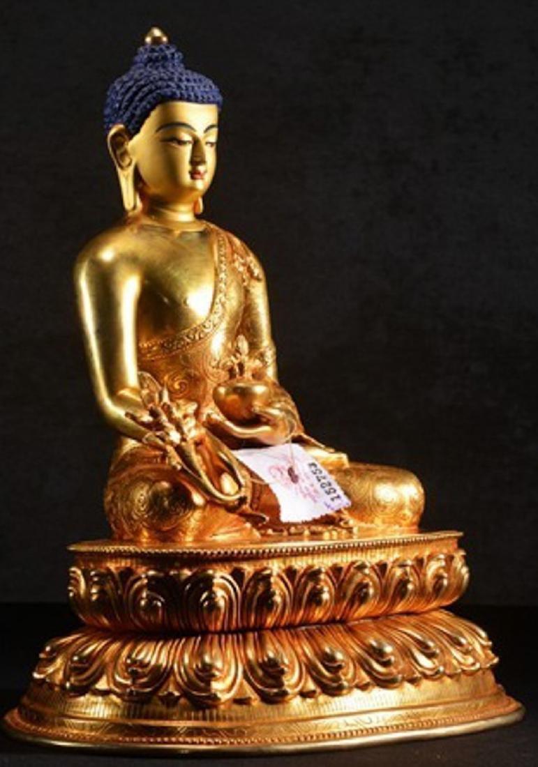 THE GILT BRONZE OF BUDDHA - 5