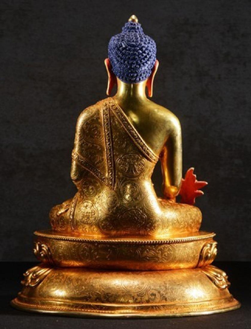 THE GILT BRONZE OF BUDDHA - 6