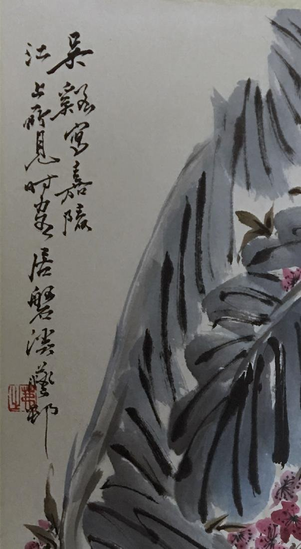 CHINESE PAINTING OF FLOWER AND BIRD SIGNED WU XI - 2