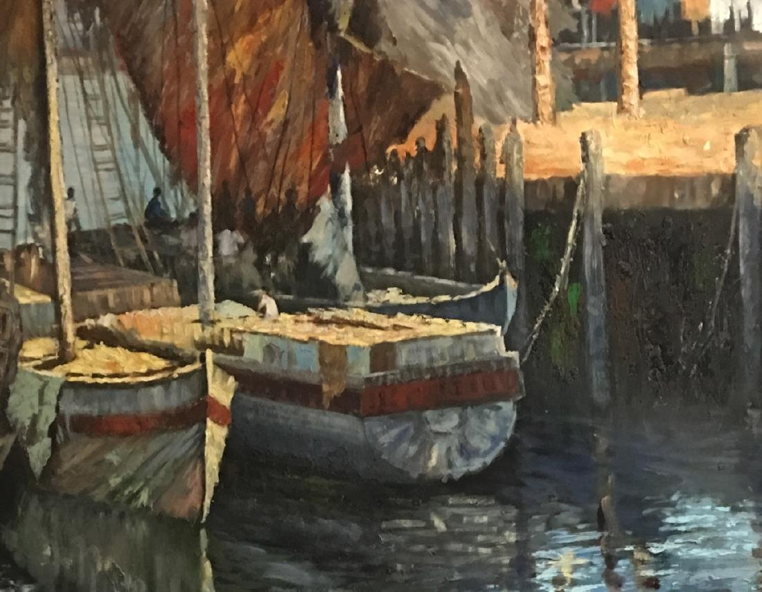 OIL PAINTING ON CANVAS, LANSCAPE - 2