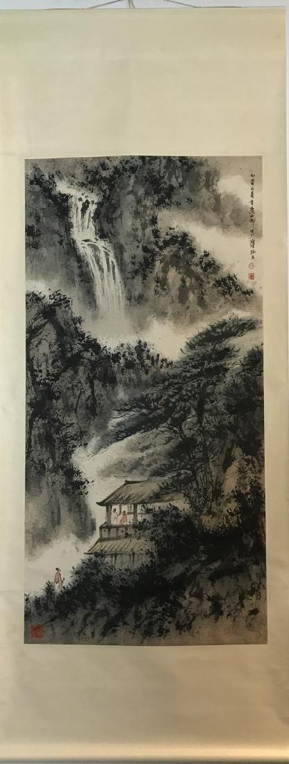 CHINESE PAINTING OF LADNDSCAPE, SIGNED FU BAO SHI - 2