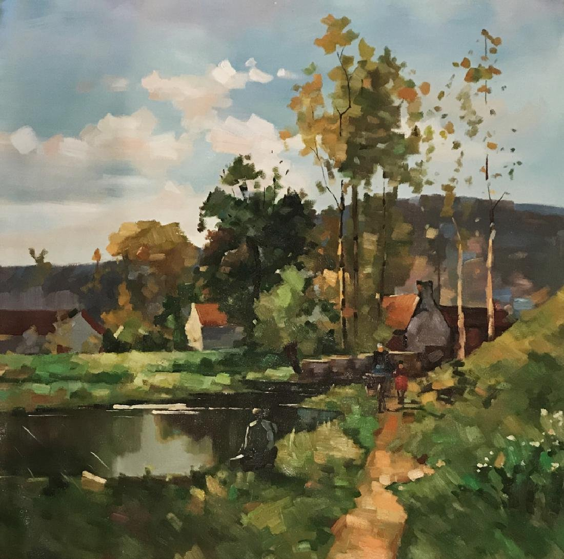 OIL PAINTING ON CANVAS, LANSCAPE
