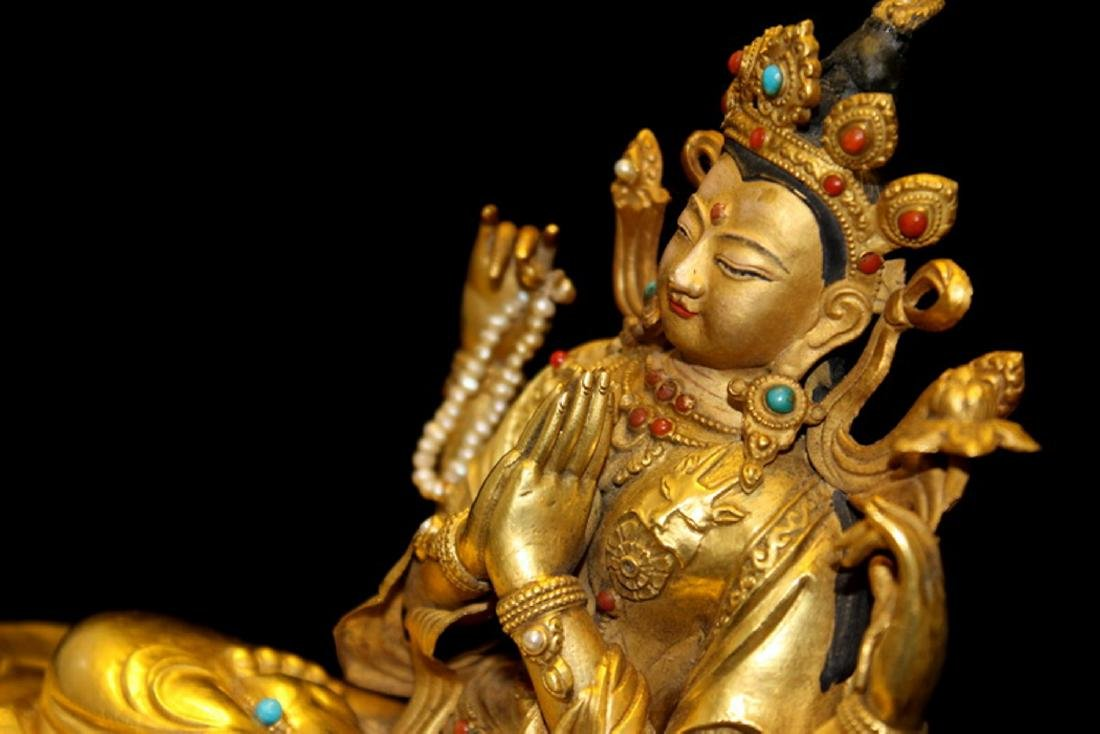 PURE GOLD QUAN YIN WITH FOUR ARMS - 4